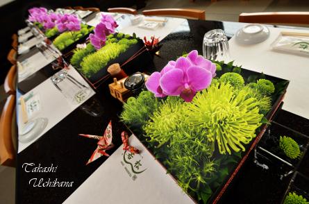 花 誕生日 バースデー 胡蝶蘭 ファレノ 桜 河... ↑ お客様の馴染みの鰻屋さんで、お食事と